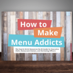 how to make menu addicts ebook