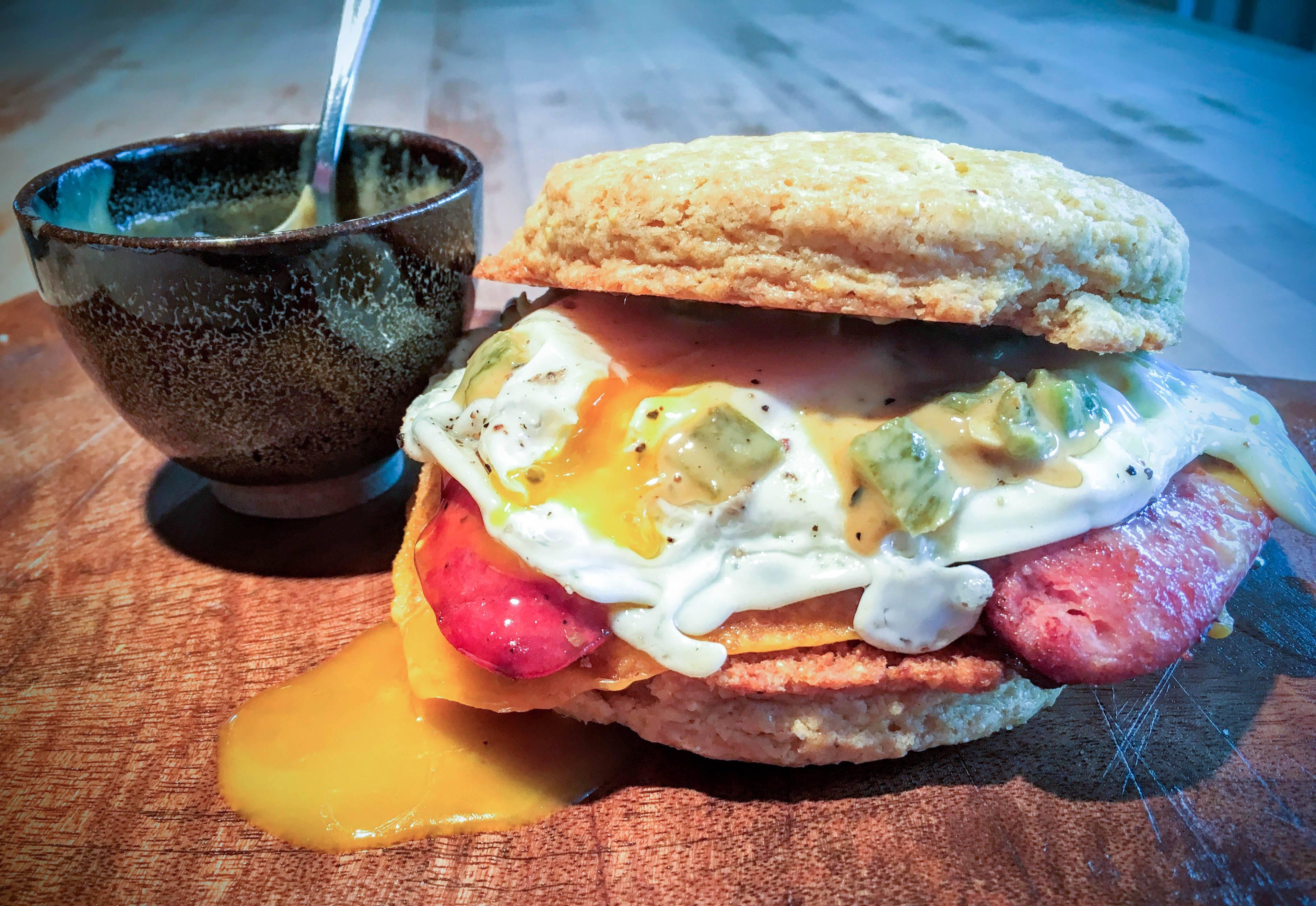 ethnic breakfast sandwich